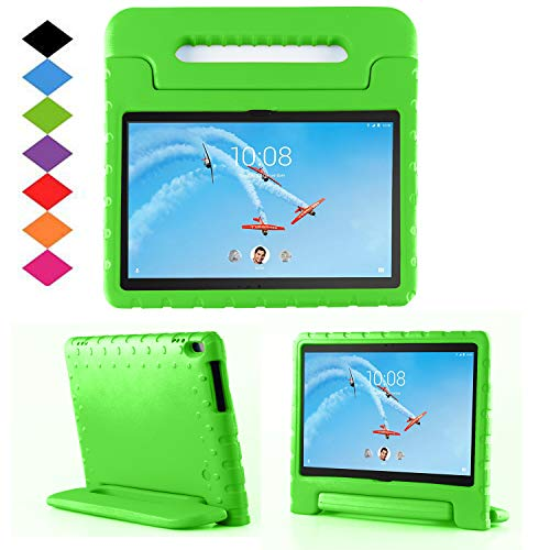 TIRIN Lenovo TAB 4 10 Plus Case- Light Weight EVA Shock Proof Convertible Handle Stand Case Cover for Lenovo TAB 4 10 Plus 2017 Tablet(TB-X704F/N)(NOT fit Lenovo TAB 4 10 Tablet TB-X304F/N), Green
