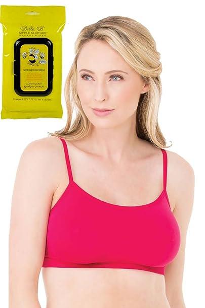910777176a Ingrid   Isabel Bundle 2 Items Nursing Cami Sleep Bra Berry S + BellaB  Breastwipes