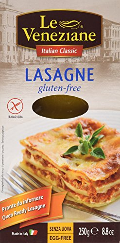 Le Veneziane Gluten Free Lasagne Sheets 250g (Best Pre Made Lasagna)