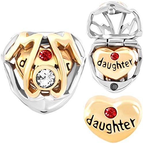 CharmsStory Daughter Birthstone Crystal Bracelets