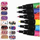 StillCool Nail Art Pen Painting Design Tools Kit Set Drawing Dotting for UV Gel Polish Assorted Colour (6 Random Color)