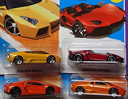 Amazon Com Hot Wheels Detailed Diecast Lamborghini Replica Bundle