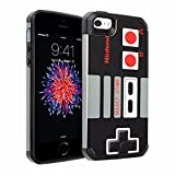 iPhone SE Case, DURARMOR iPhone 5S Vintage Nintendo NES Game Controller Dual Layer Hybrid Case ShockProof Slim Fit Armor Air Cushion Bumper Drop Protection Cover for iphone 5 SE 5S, NES