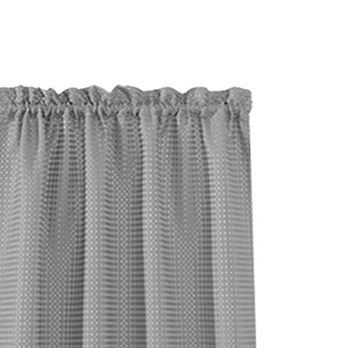 Waffle Weave Half Window Curtains for Kitchen/Bathroom Window Treatment Tiers Set (72-by-45 Inch Long, Grey, One Pair) by jinchan (Image #1)'