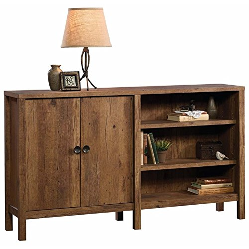 Sauder 420298 New Grange Console, L: 57.99'' x W: 12.60'' x H: 32.99'', Vintage Oak finish by Sauder