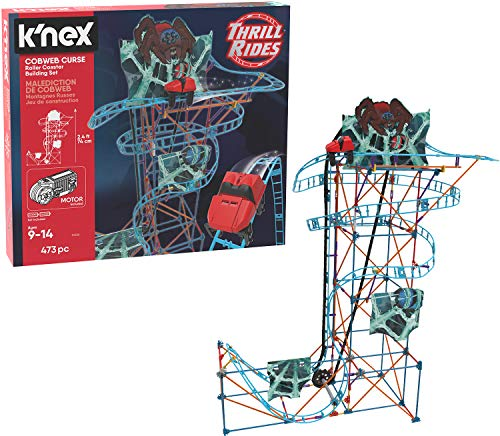 K'NEX Thrill Rides – Cobweb Curse Roller Coaster Building Set – 473Piece – Ages 9+ Construction Educational Toy Building -