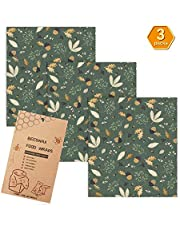 Beeswax Wrap Reusable Food Wrap Assorted 3 PACKS, Reusable Food Wraps Eco Friendly, Sustainable Plastic Free Food Storage-3 Medium-Say Goodbye to Plastic