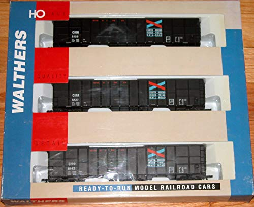 (WALTHERS 932-34056 61' Wood CHIP CAR 3-Pack Chattahoochee IND RR)