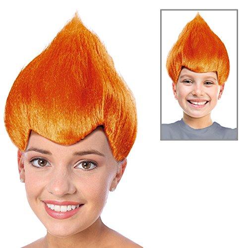Anger Wig Troll Wig Orange Troll Doll Costume Orange Troll Costume (Troll Doll Costume)
