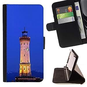 For MOTOROLA MOTO X PLAY XT1562 Case , Arquitectura Retro Mar Ligthouse- la tarjeta de Crédito Slots PU Funda de cuero Monedero caso cubierta de piel