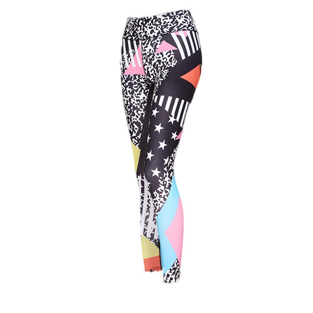 Zilosconcy Mujer Pantalones, Pantalones de Yoga elásticos Impresión Pantalones Deportes de Fitness Gym Pantalones Transpirables Pantalones Leggings ...