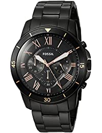 Men's 'Grant Sport' Quartz Stainless Steel Casual Watch, Color:Black (Model: FS5374)
