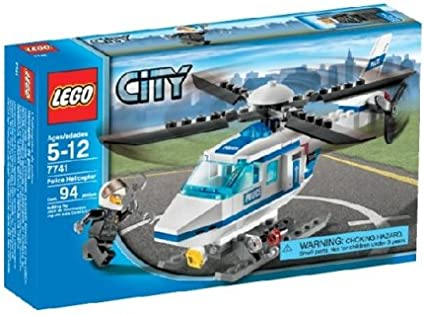 Amazon Com Lego City Police Helicopter 7741 Toys Games