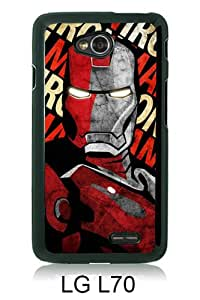 Lovely And Unique Designed Case For LG L70 With Iron man 19 Black Phone Case