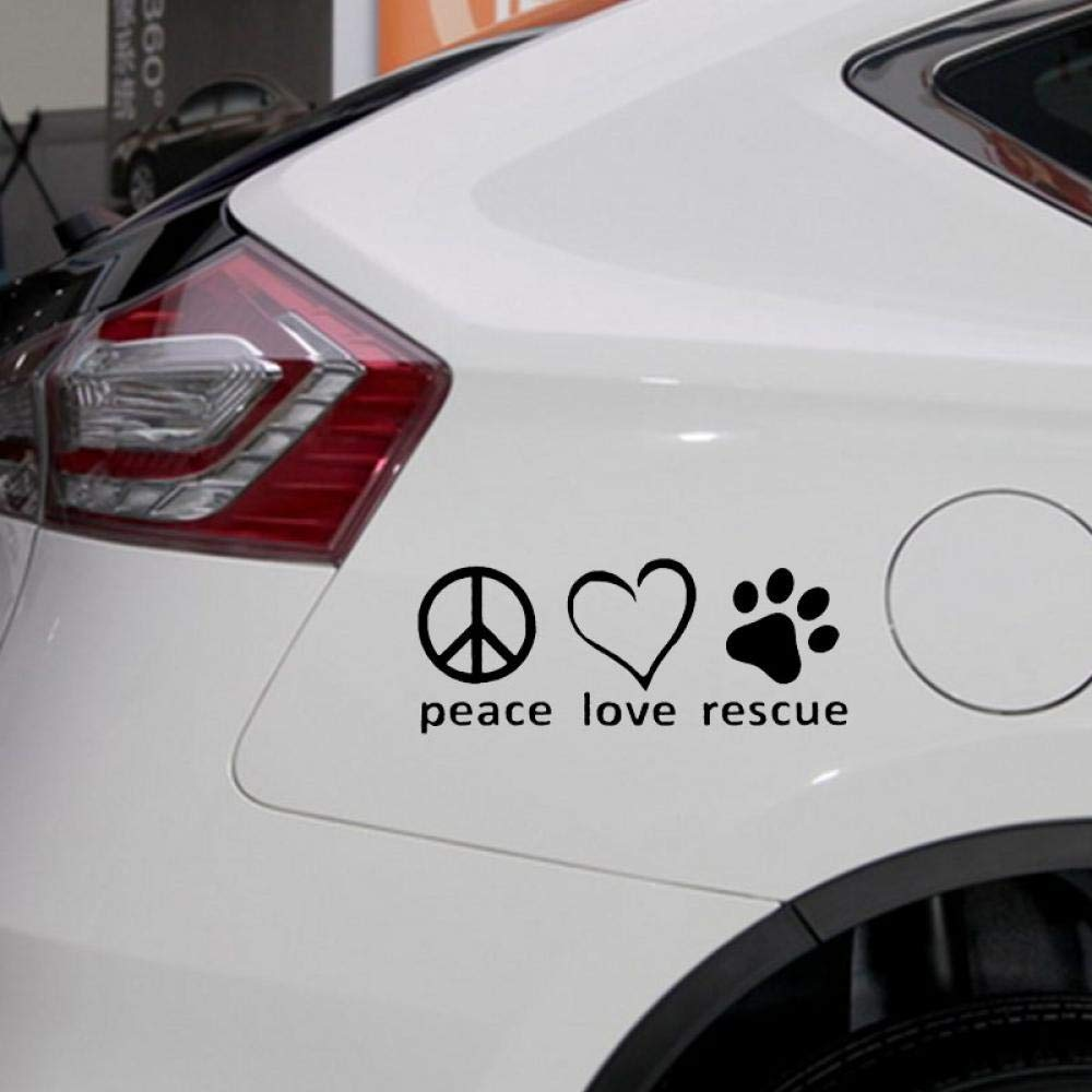 Peace Love Rescue Vinyl Decal car truck sticker bumper window adopt pitbull pit