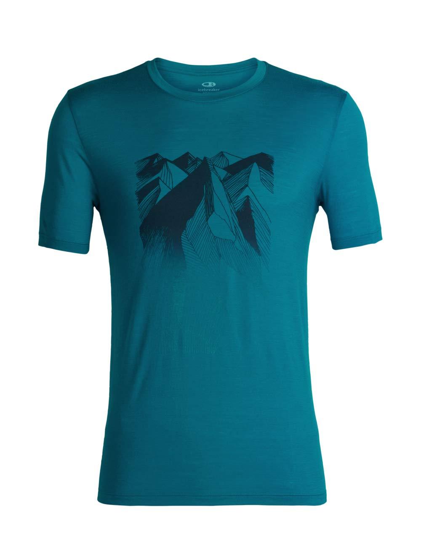 Icebreaker Tech Lite Geometry of Geology SS Crew Shirt Men Gritstone Heather 2018 Kurzarmshirt