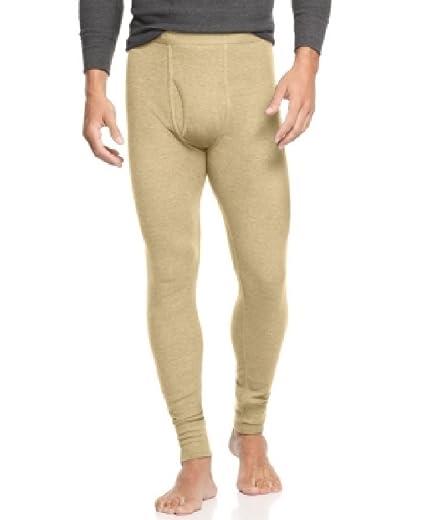 fb190b31376b Alfani Mens Thermal Heathered Long Underwear Beige XL at Amazon ...