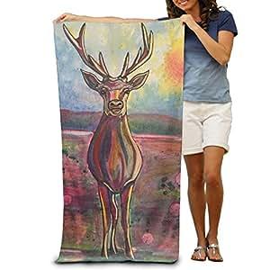 Sad Deer Beach Bath Pool Hooded Extra Large Towels Blanket For Adult