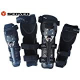A&A Automobile® Scoyco K-11 Motorcycle Racing Riding Knee & Elbow Guard Pads Protector Gear Black