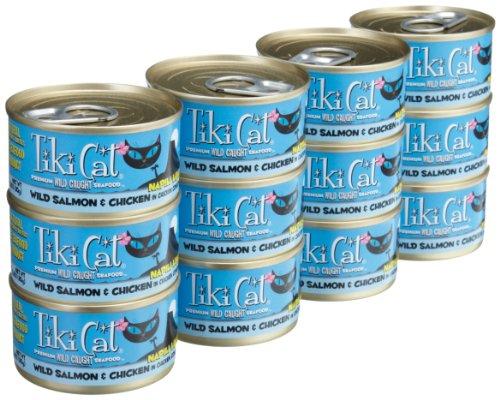 Tiki Cat, Canned Cat Food, Napili Luau Salmon Chicken, 12 ct, 2.8 oz