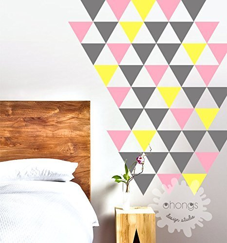 triangle-wall-decal-3-color-triangles-decal-4-triangle-sticker-home-decoration-living-room-decal