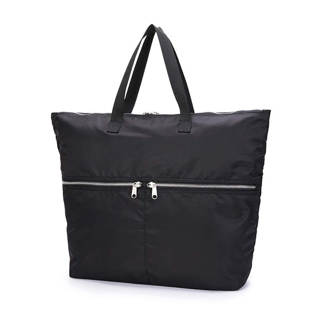 PY ナップザックファッションレディースカジュアルナイロンハンドバッグクリエイティブトラベルバックパックシンプルなブラック防水大容量シングルショルダーバッグ   B07GL2WZBZ