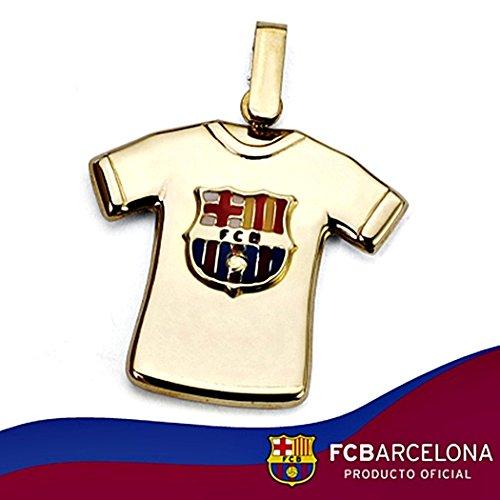 Pendentif chemise manteau F.C. Barcelona loi 22mm en or 18k. [8449GR] - personnalisable - ENREGISTREMENT inclus dans le prix