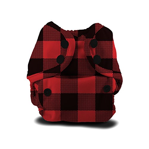 (Buttons Cloth Diaper Cover - Newborn Snap (7-12lbs) (Lumberjack))