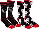 marvel man socks - Marvel Punisher Mens Athletic Crew Socks 2 Pair Pack (One Size, Punisher Black)