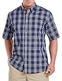 Harbor Bay Big & Tall Easy-Care Medium Plaid Sport Shirt