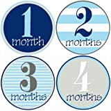 Mumsy Goose Baby Boy Monthly Stickers (1-12 Months)...