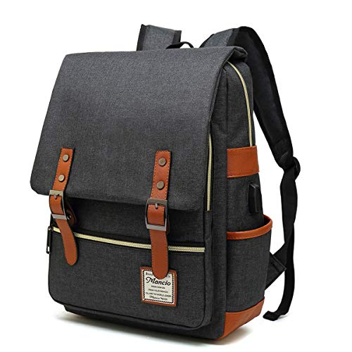 mancio-slim-laptop-backpack-with-usb-charging-portvintage-tear-resistant-business-bag-for-travel-college-school-casual-daypacks-for-manwomen-fits-up-to-15-6inch-macbook-in-black