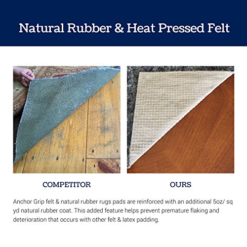 6 X 9 Thick Felt And Rubber Rug Pad Non Slip Rug Pad 3 8