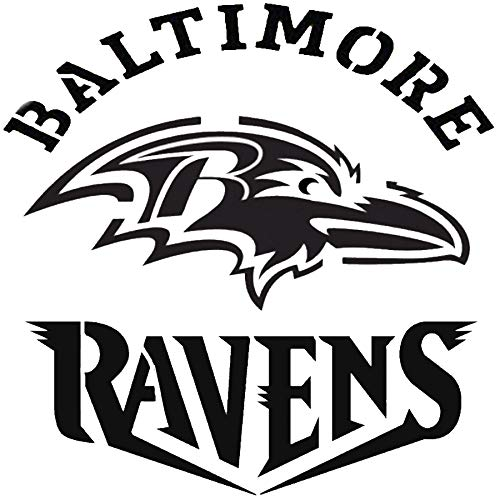 Various SZS Baltimore Ravens Logo Stencil Reusable Mancave Sports Football Stencils by FunWithStencils (Image #1)