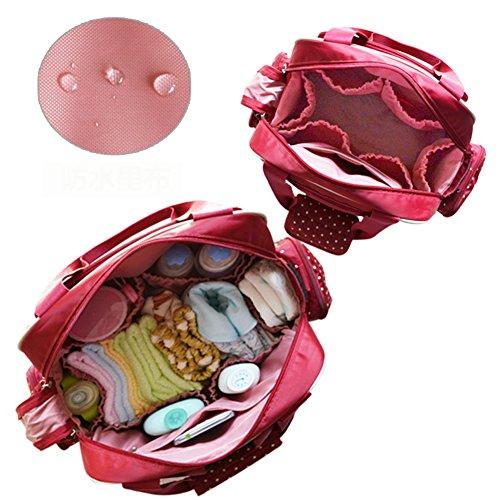 Kangming Baby Wickeltasche, multifunktional Dot Mama Handtasche mit Tasche