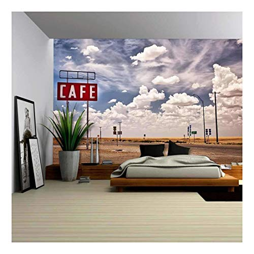 wall26 - Cafe Sign Along Historic Route 66 - Canvas Art Wall Decor - 100