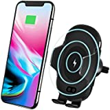 Wireless Car Charger Mount Automatic Qi Fast Charger Car Mount Air Vent Phone Holder for Samsung Galaxy S9/S9 Plus S8 S7/S7 Edge Note 8 5 iPhone X/8/8 Plus and QI Enabled Devices (Black)