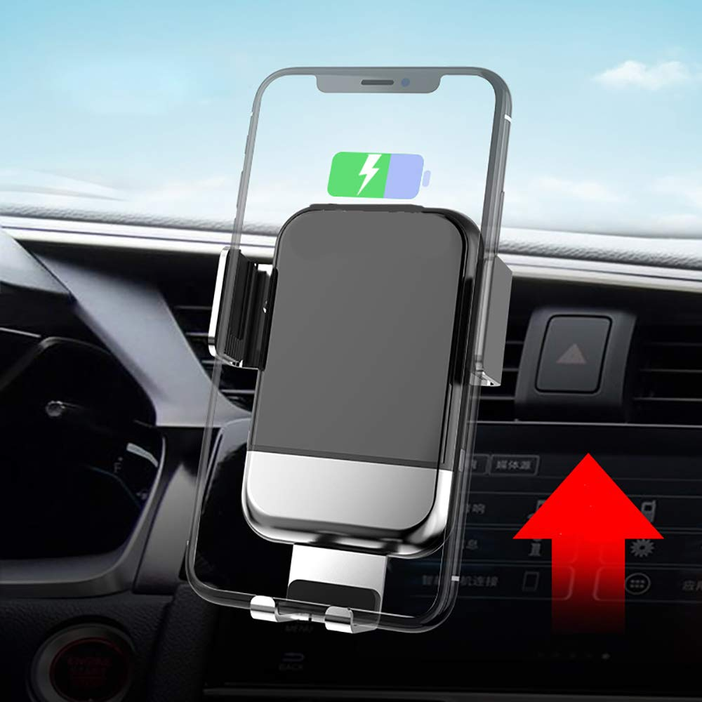 LRQHHZYQ Wireless Car Charger Mount, Auto Clamping Motorized Phone Holder, Fast Charging Air Vent 10W for Samsung S10 S10+ S10e Note 9 S9 + S8 S7 S6 Edge, 7.5W for iPhone XR XS Max X 8 Plus, etc by LRQHHZYQ