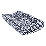 Trend Lab Plush Changing Pad Cover, Blue Hexagon