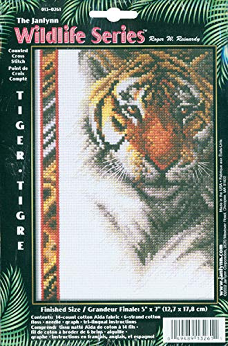 Janlynn Tiger Wildlife Cntd X-Stitch Kit (Cross Stitch Cntd Kit)