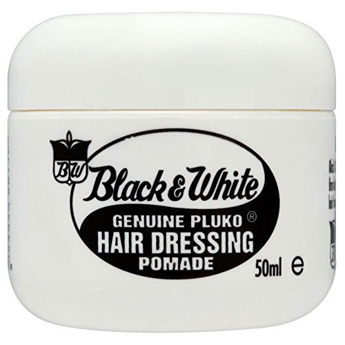Black and White Genuine Pluko Hair Dressing Pomade (50ml) - Pack of 2