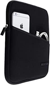 Shockproof Neoprene 9.7-10.1 inch Tablet Sleeve Case Cover Pouch for iPad 9.7-inch, iPad Air/Air 2, Samsung Galaxy Tab A 9.7,Tab S3/ S2 9.7, Microsoft Surface Go 10,Voyo i8 9.7, ZenPad 3S -Black