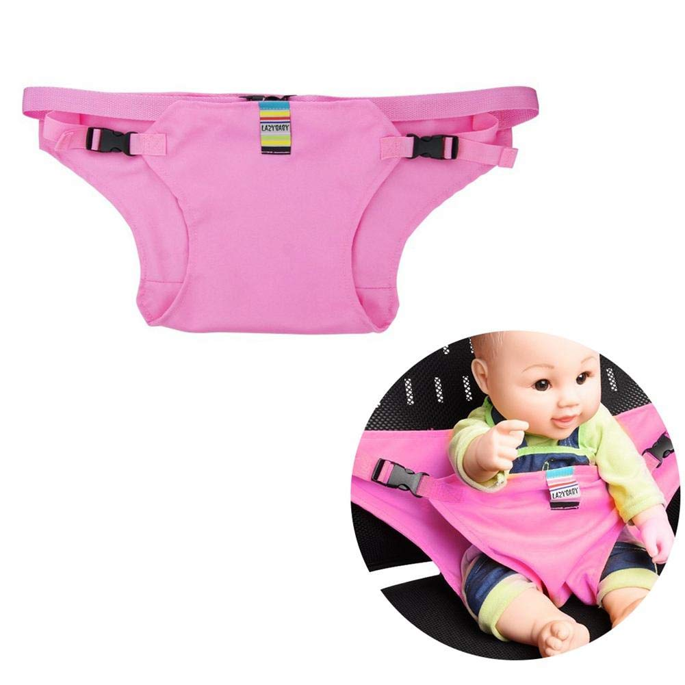 Baby Feeding Chair Belt, Aolvo Toddler Safety Harness - Washable, Non-Toxic, Comfort - Help Easier Feed Baby, Adjustable High Chair Booster Seat Strap Security Belt for Kids - Pink