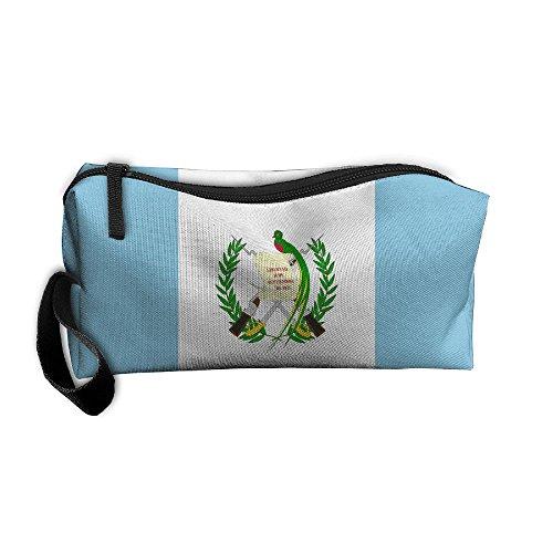 Haddfyeertty Guatemalan Flag Fashion Toiletry Bag Travel Receiving Bag Wallets Purse Zipper Kit Multi-function Bag