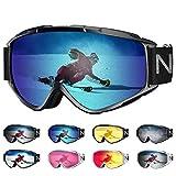 NXONE Snow Goggles Anti-Fog UV Protection Snowboard Goggles Dual Layer Lens TPU Frame Ski Goggles for Men Women