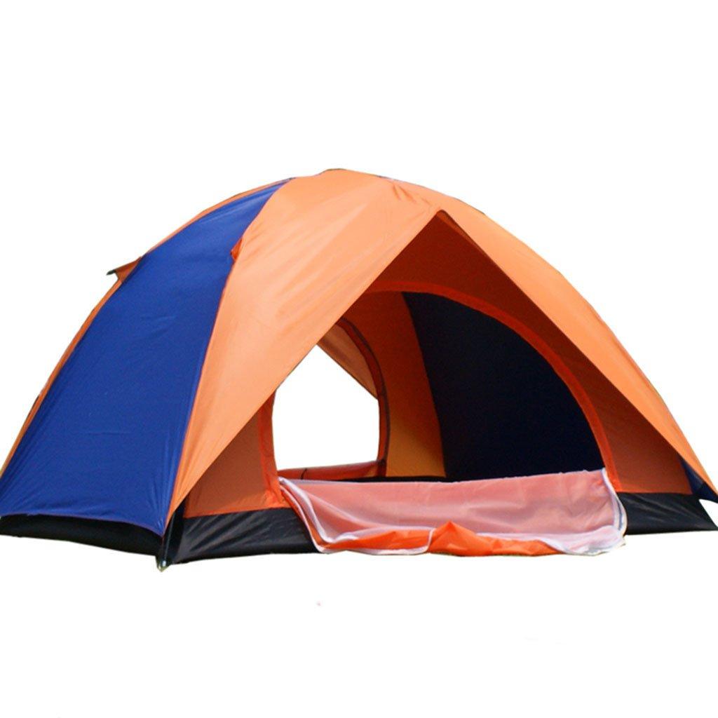 TENT-L ZP Zelt, Feld Manual Build Individual 2 Personen 3-4 Personen Outdoor Family Selbstfahrende Tour Camping Campingzelt huwaizhangpeng (Farbe : Blau, größe : 2)