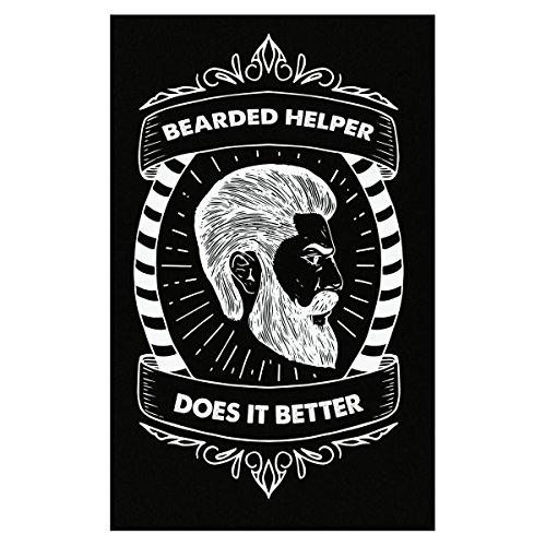 - Volume Tee Bearded Helper Does It Better Typography Design - Poster