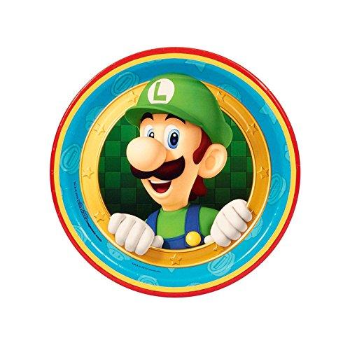 Super Mario Party Supplies - Dessert Plates (8) (Mario Theme Party)