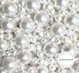 LolaSaturdays Pearls 1-lbs Loose Beads - No Hole (Assorted, White)