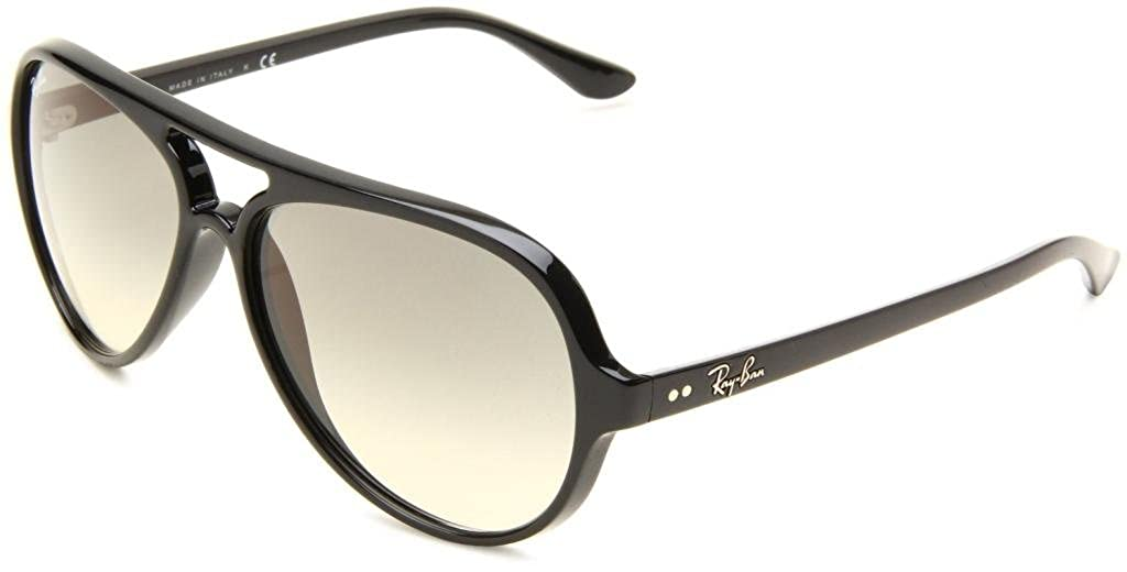 085c12ba6b4 Amazon.com  Ray Ban RB4125 601 32 59mm Black Crystal Gray Gradient Cats  5000 Bundle-2 Items  Shoes